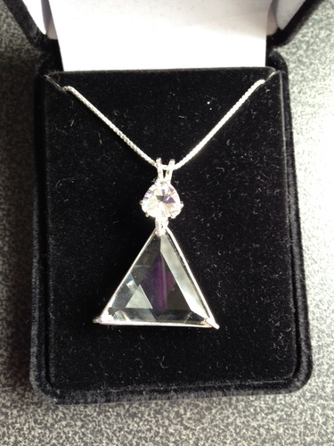 Clear Quartz Vogel Triangle With Clear Quartz - Twice The Power!!