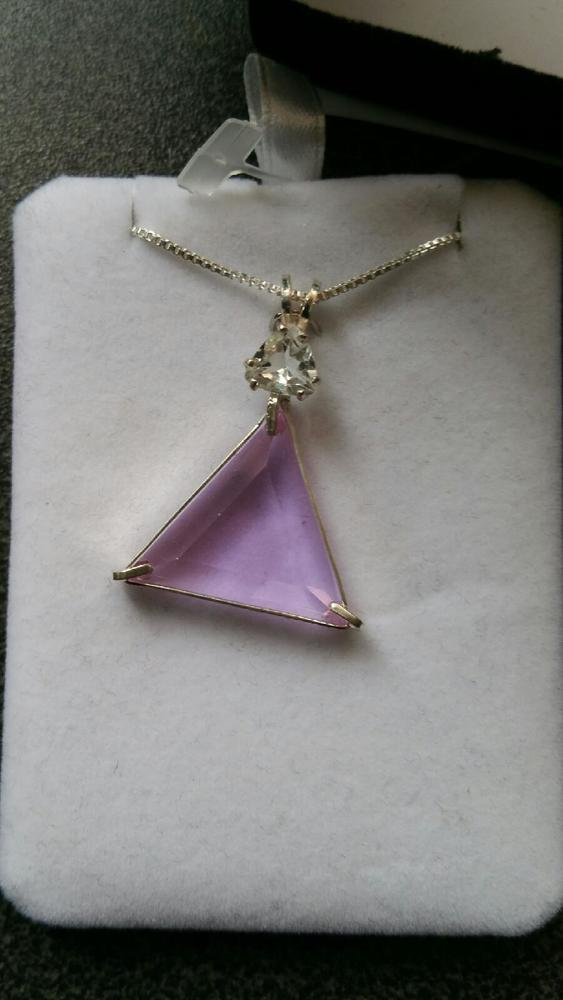 True Love Ruby Lavender Vogel With Clear Quartz