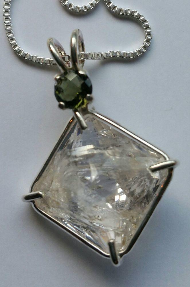 Gorgeous Clear Quartz Magician Stone With Rare Moldavite