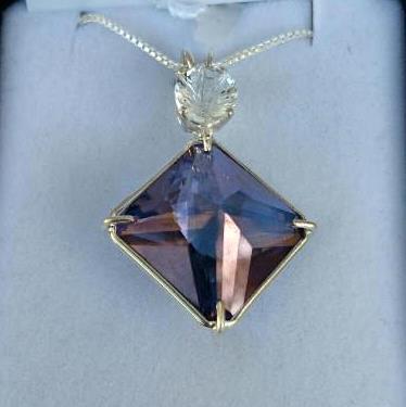 Magical Tanzine Aura Magician Stone With Powerful Clear Quartz