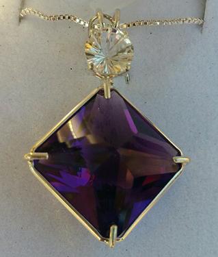 Mystical Siberian Purple Quartz Magician Stone with White Topaz