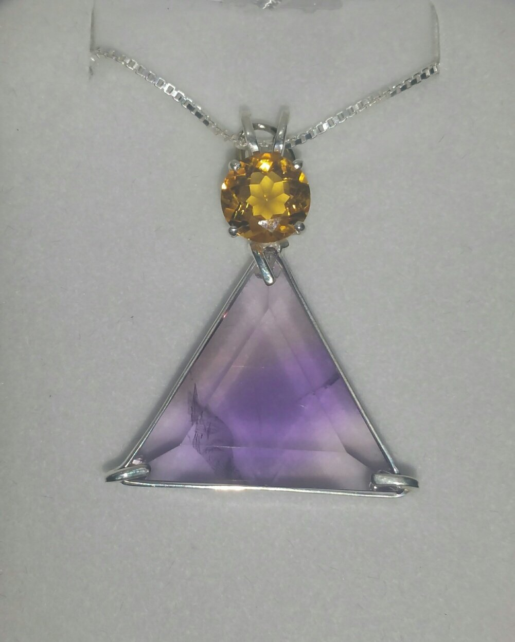 Intuition & Prosperity Beautiful Ametrine Vogel With Citrine